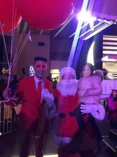 Santa and Man in Red at High Street
