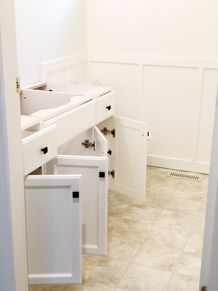 h o m e | Powder Room Renovation on a Budget – Part 1