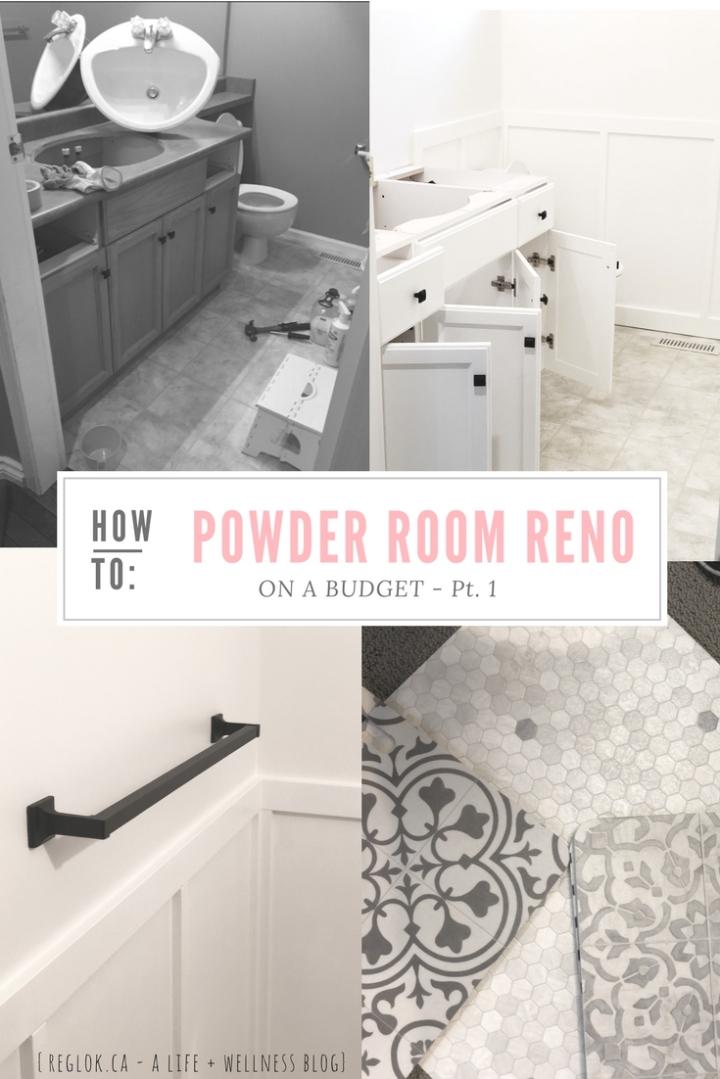 h o m e | Powder Room Renovation on a Budget – Part 1