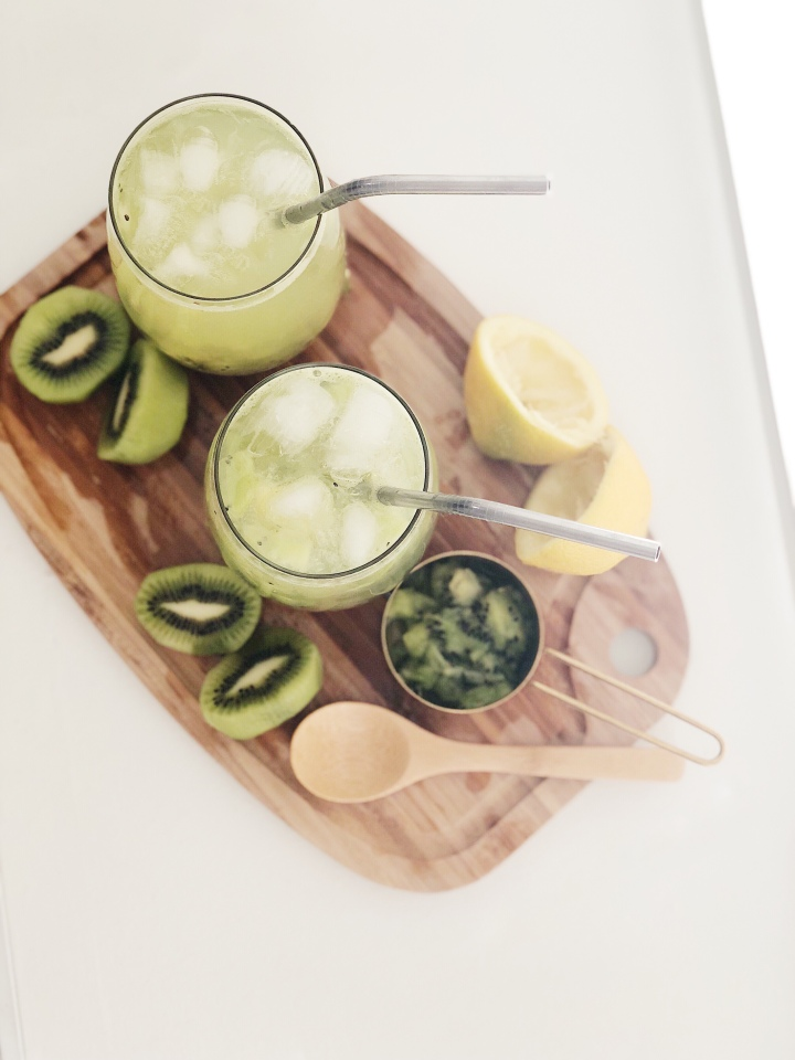 Muddled Kiwi Summer Cocktail