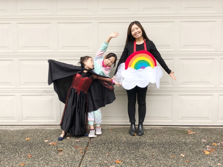 DIY Halloween Family Costume: Mystic Vs Evil – What goes with a Vampire and a Unicorn?