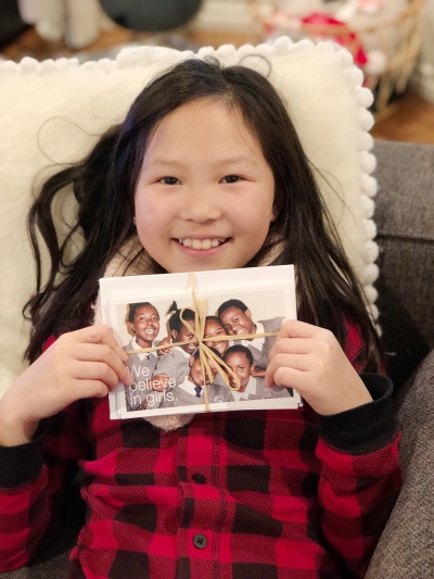 holiday cards give back with the one girl can society