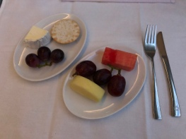 cheese and fruit course