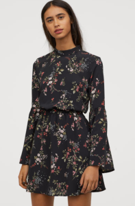 hm floral dress