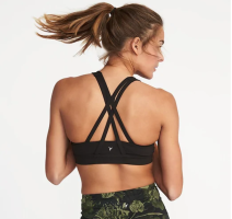 old navy sports bra strappy