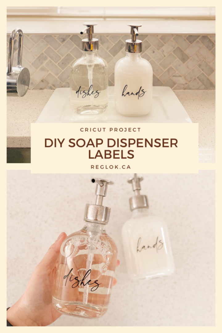 Pretty Soap Dispenser Labels with the Cricut