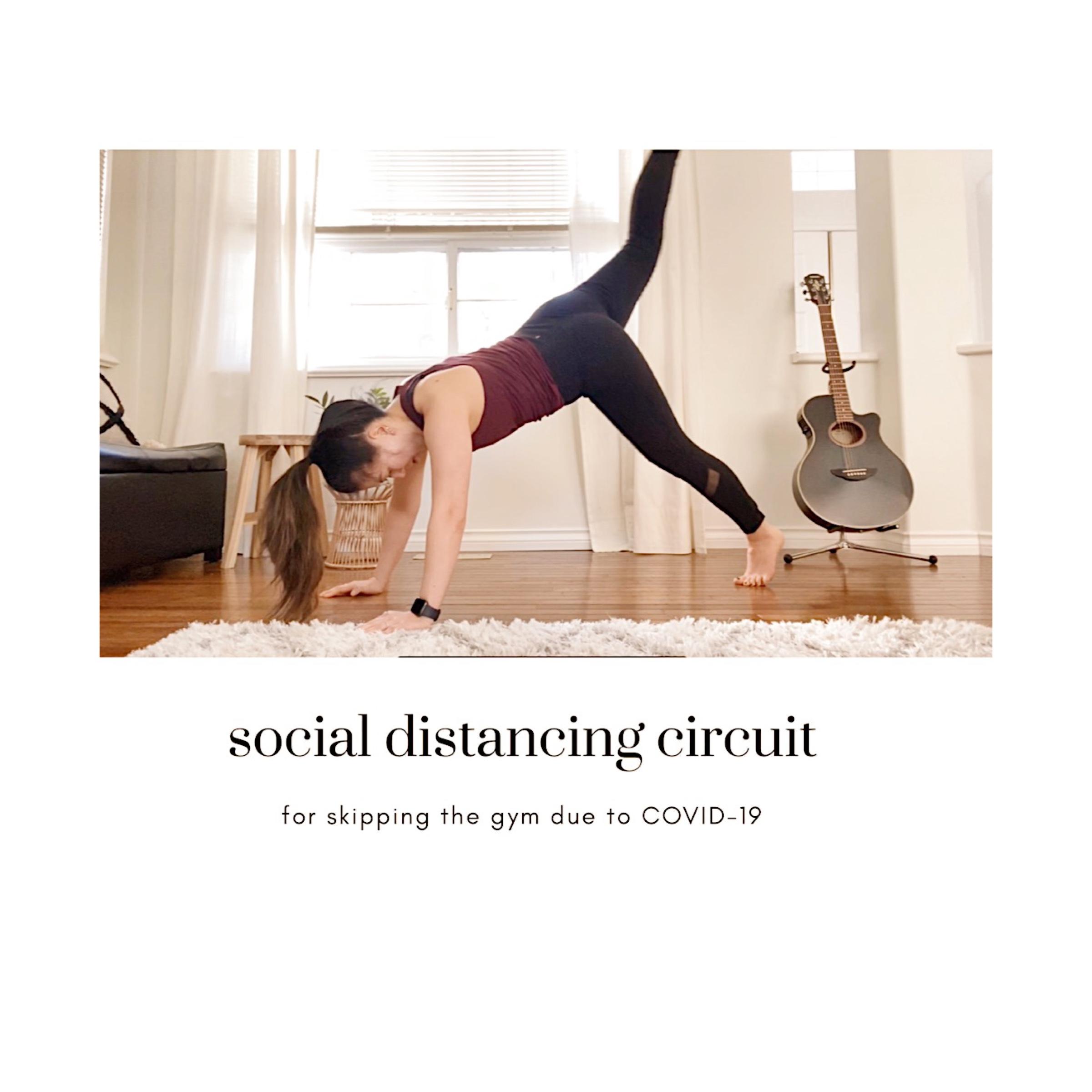 social distancing workout at home circuit