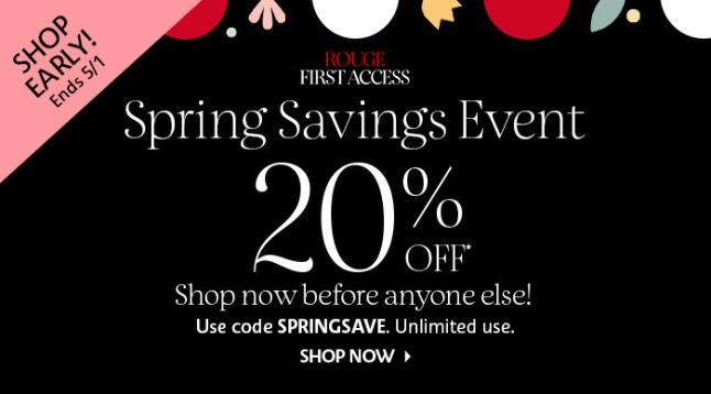 sephora spring sales 2020