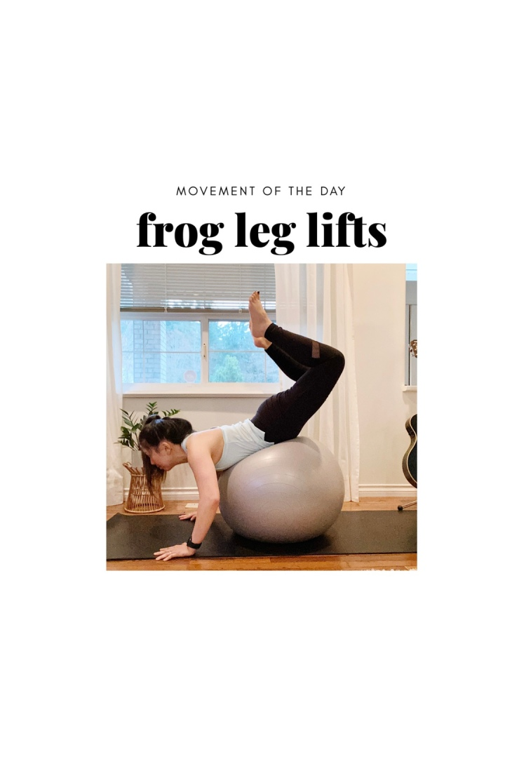 Try this: FROG LEG LIFTS