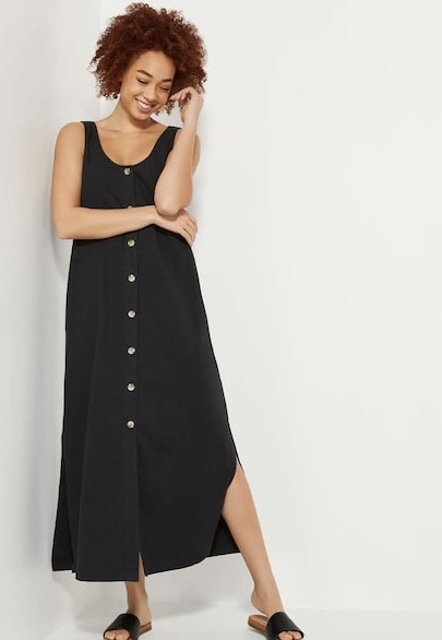 joe fresh button maxi midi dress