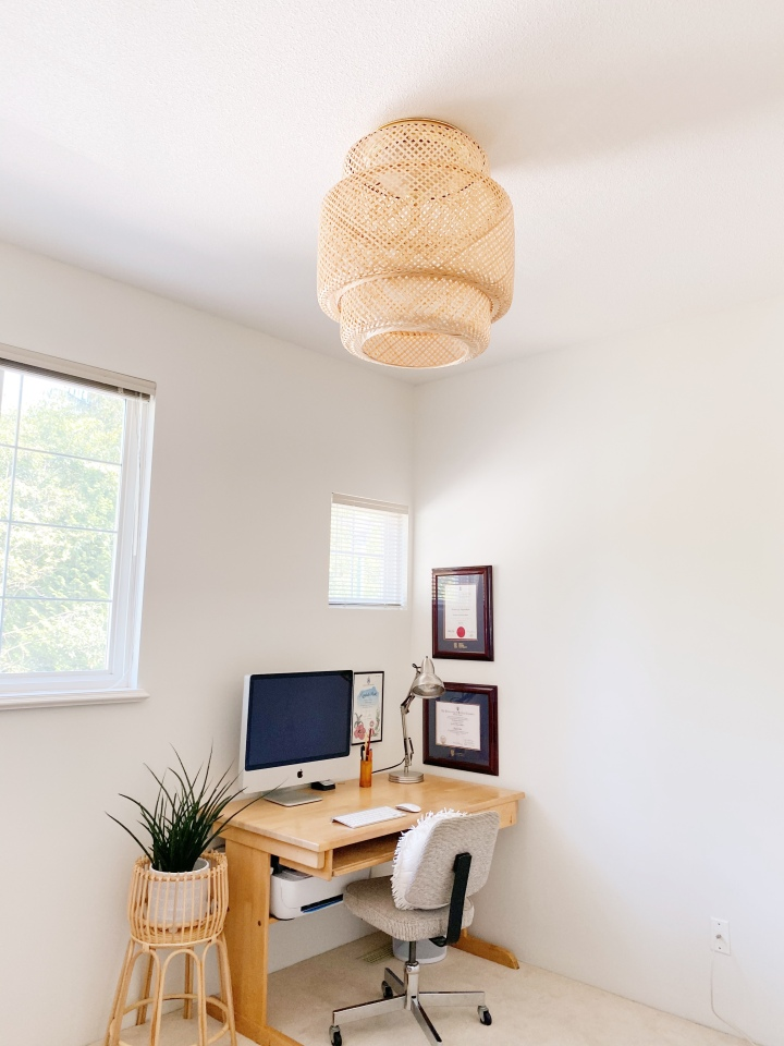IKEA HACK: Turning a Pendant Light to a Flush Mount