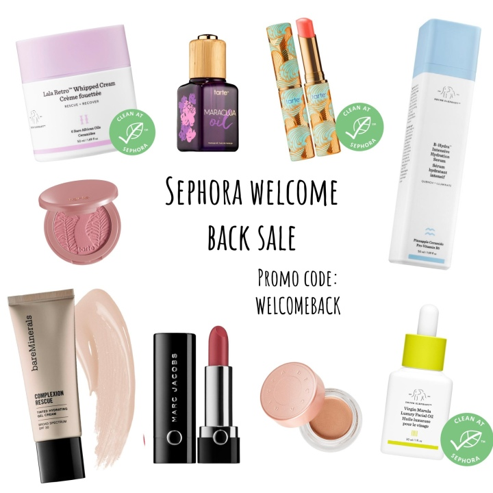 My Current Make Up & Skincare and Sephora Welcome Back Sale