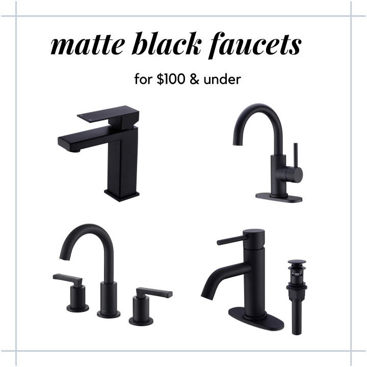 black faucets under $100